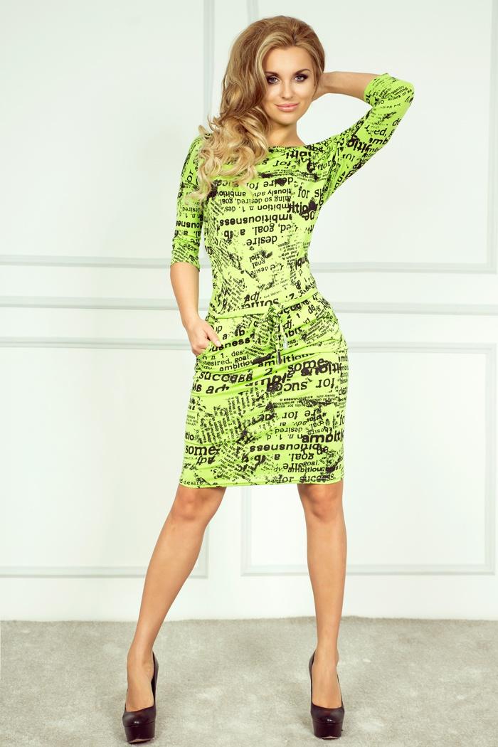 Sportovní šaty s potiskem, zelená, S