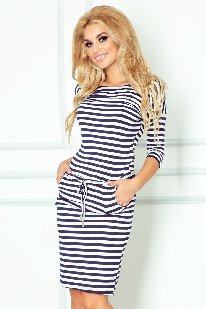 Sportovní šaty - bilo modré, modrá, S