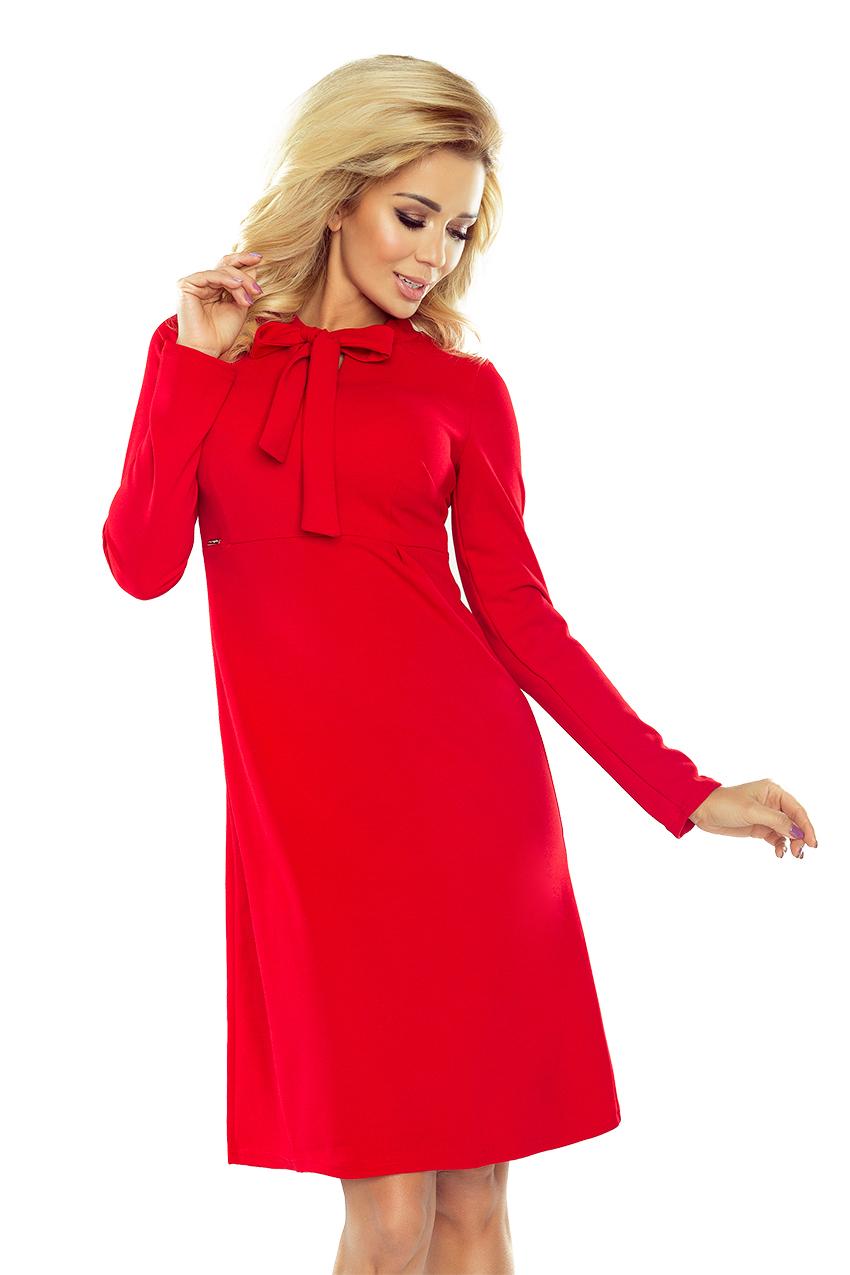 Dámské šaty s výraznou mašlí