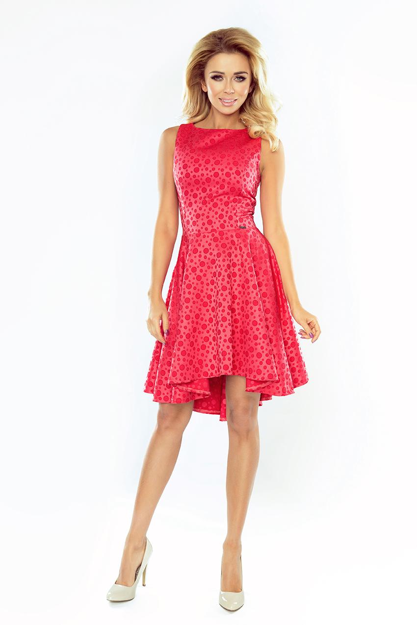 Dámské kolové asymetrické šaty