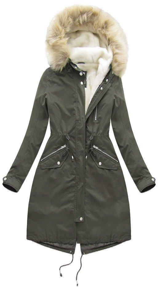 zimní parka s kapucí