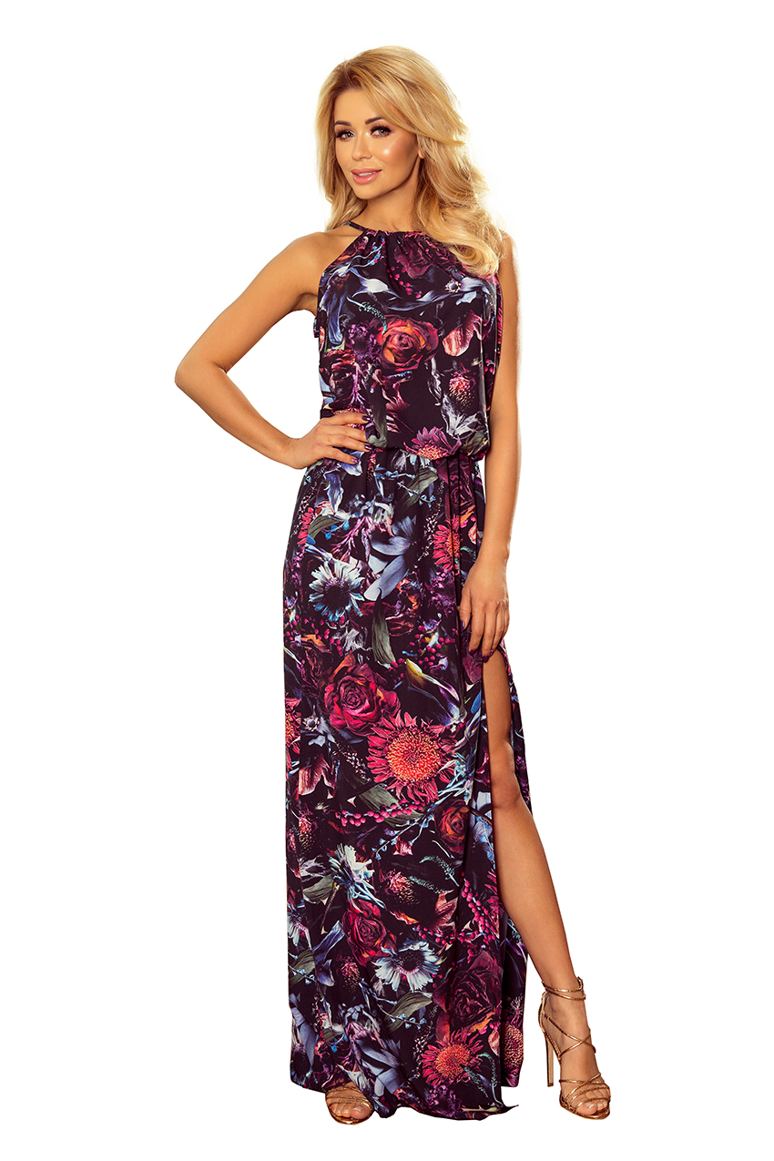 Květinové maxi šaty, jednotná, S