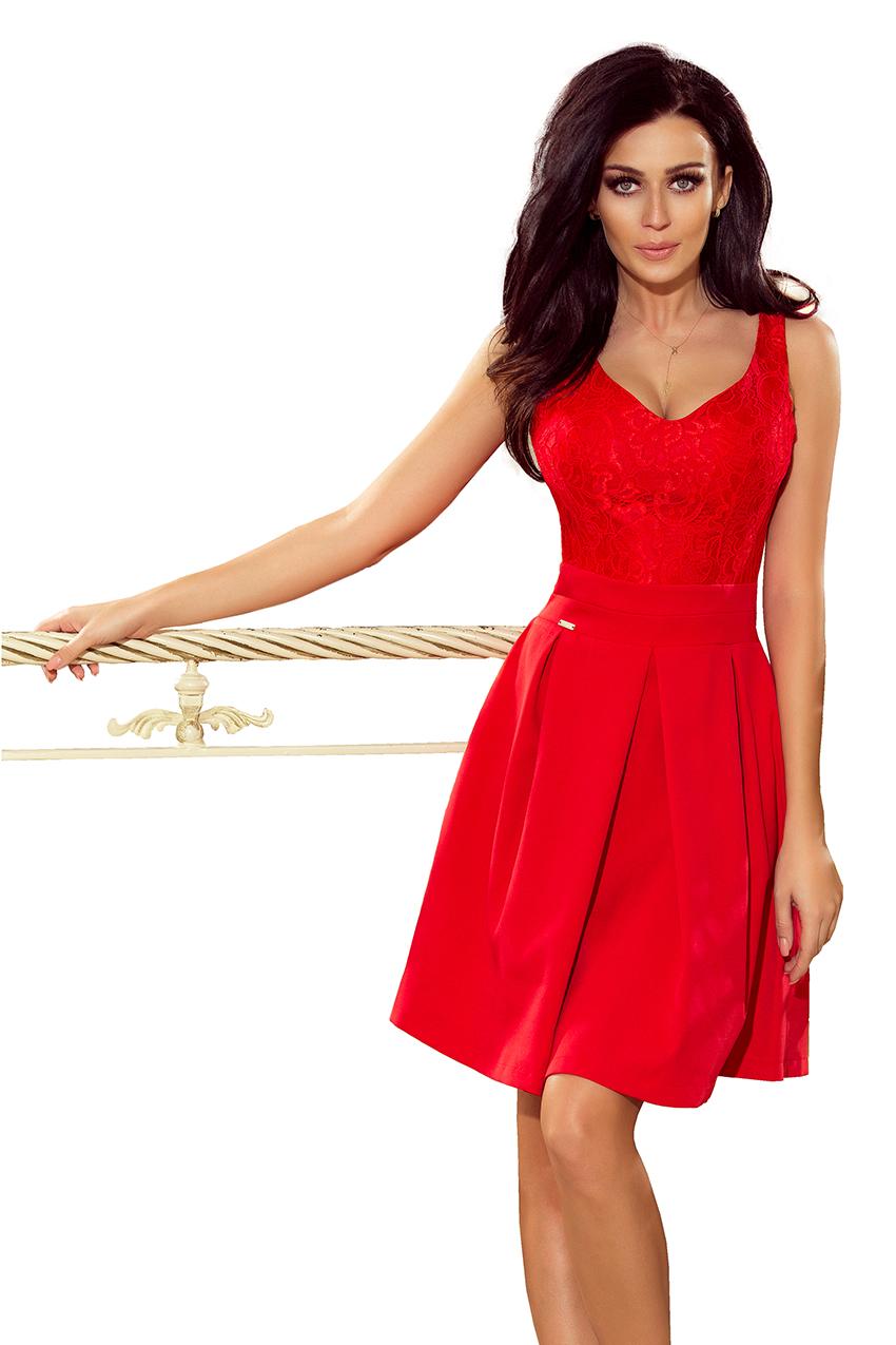 Elegantní  šaty s výstřihem 208-2