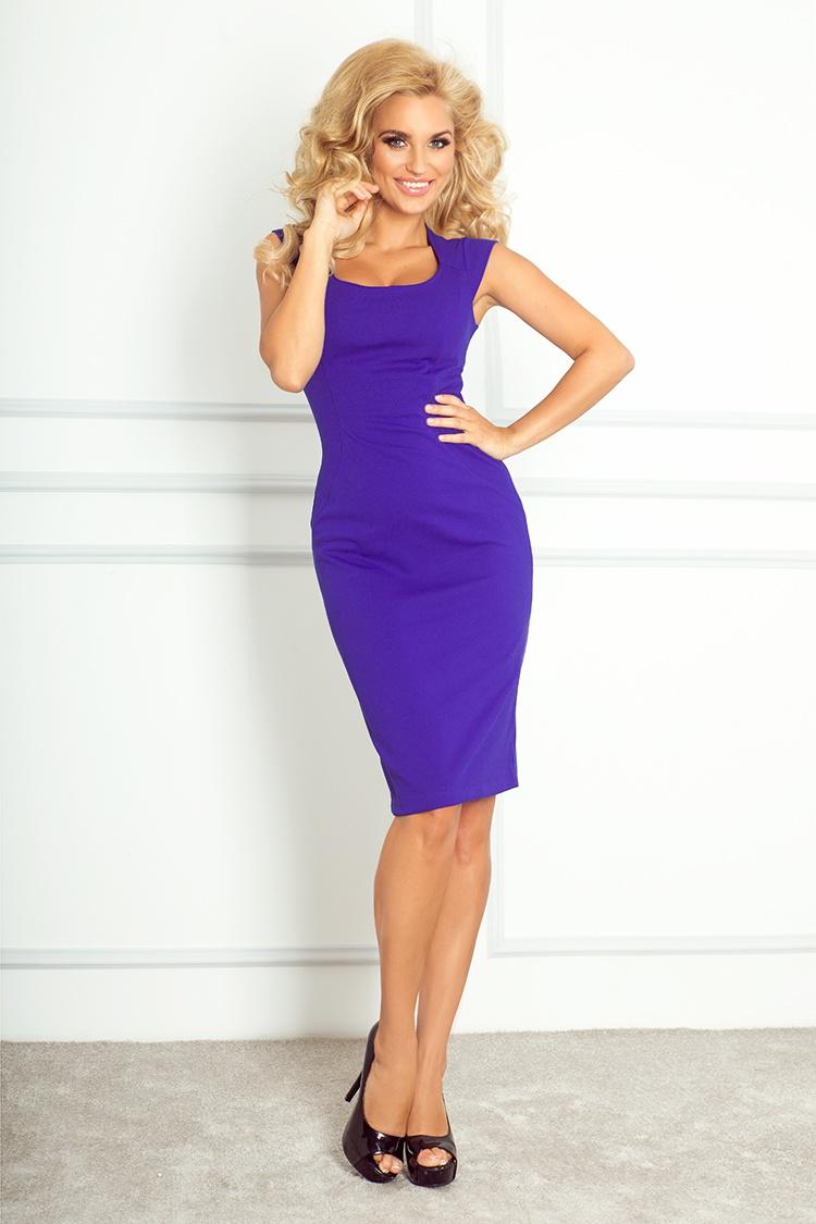 Elegantní šaty, modrá, XL