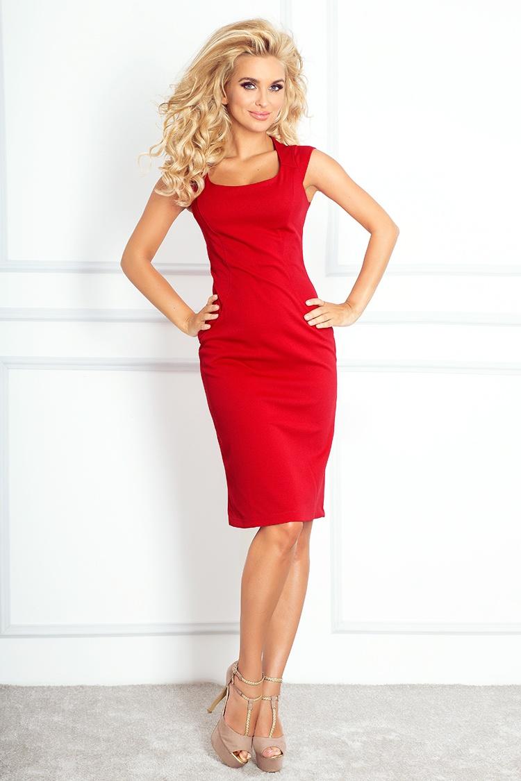 Elegantní šaty, červená, S