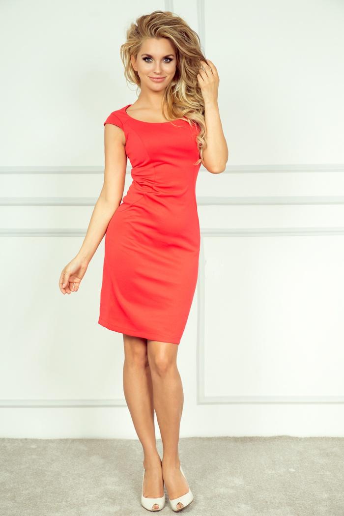 Elegantní šaty, korálová, XL