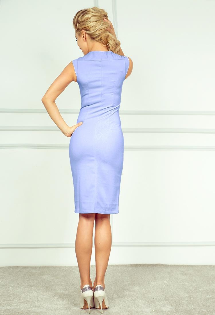 Elegantní šaty, světle modrá, L