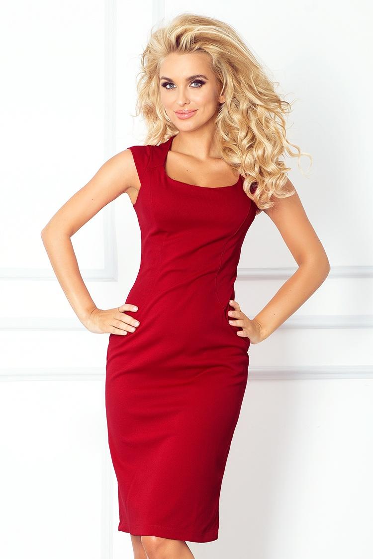 Elegantní šaty, vínová, S