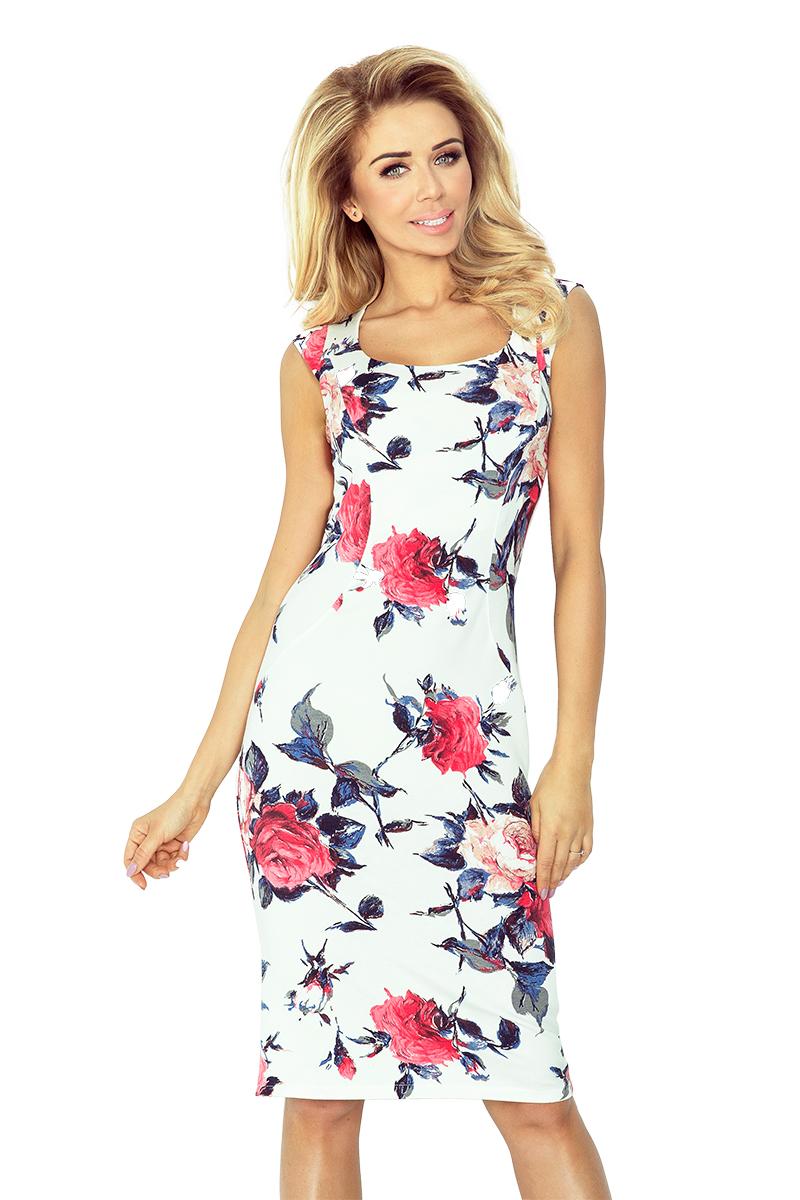 Pouzdrove šaty s potiskem květů
