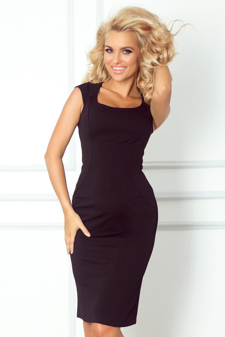 Elegantní šaty, černá, L