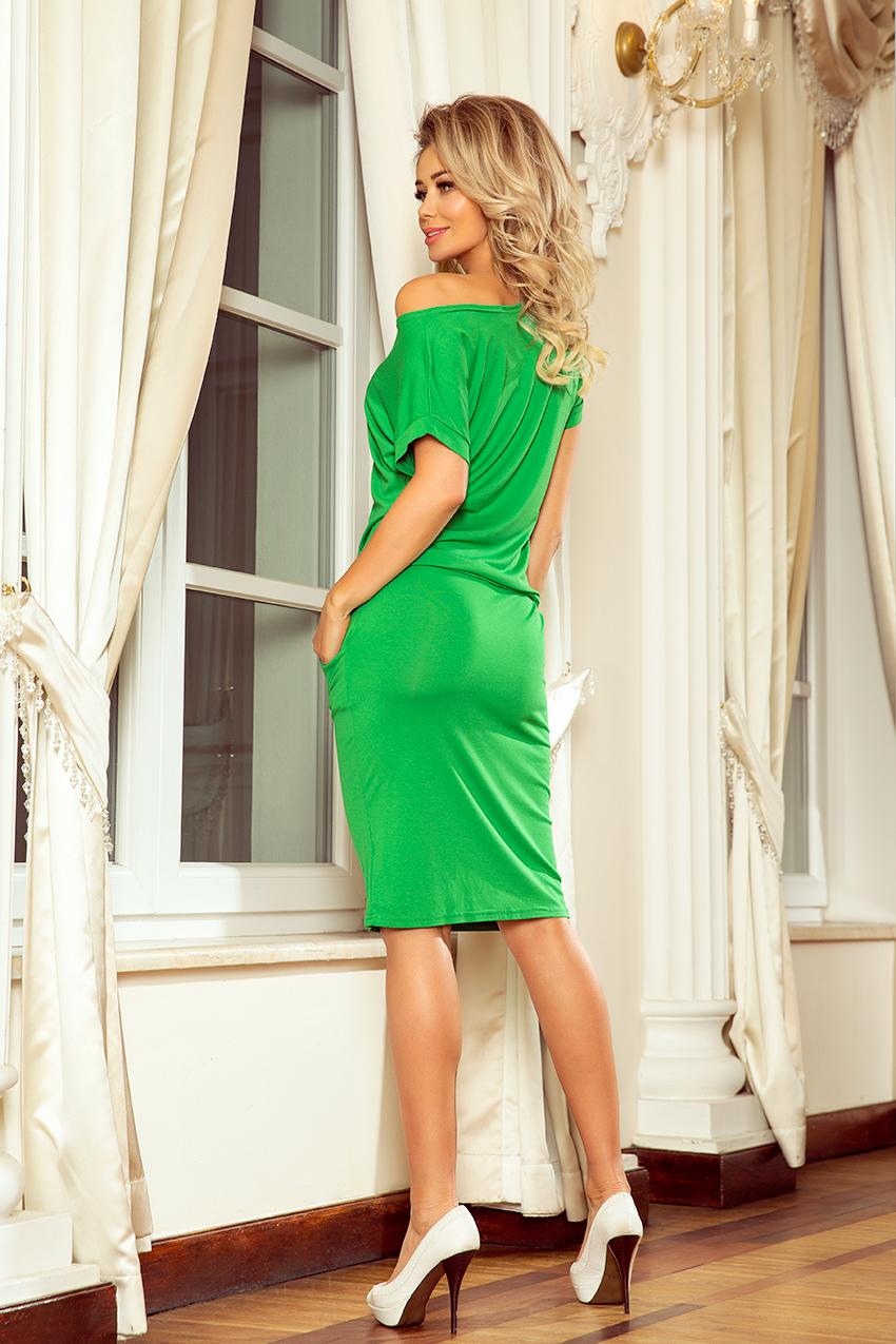 Sportovní šaty s krátkým rukávem 56-6, zelená, S