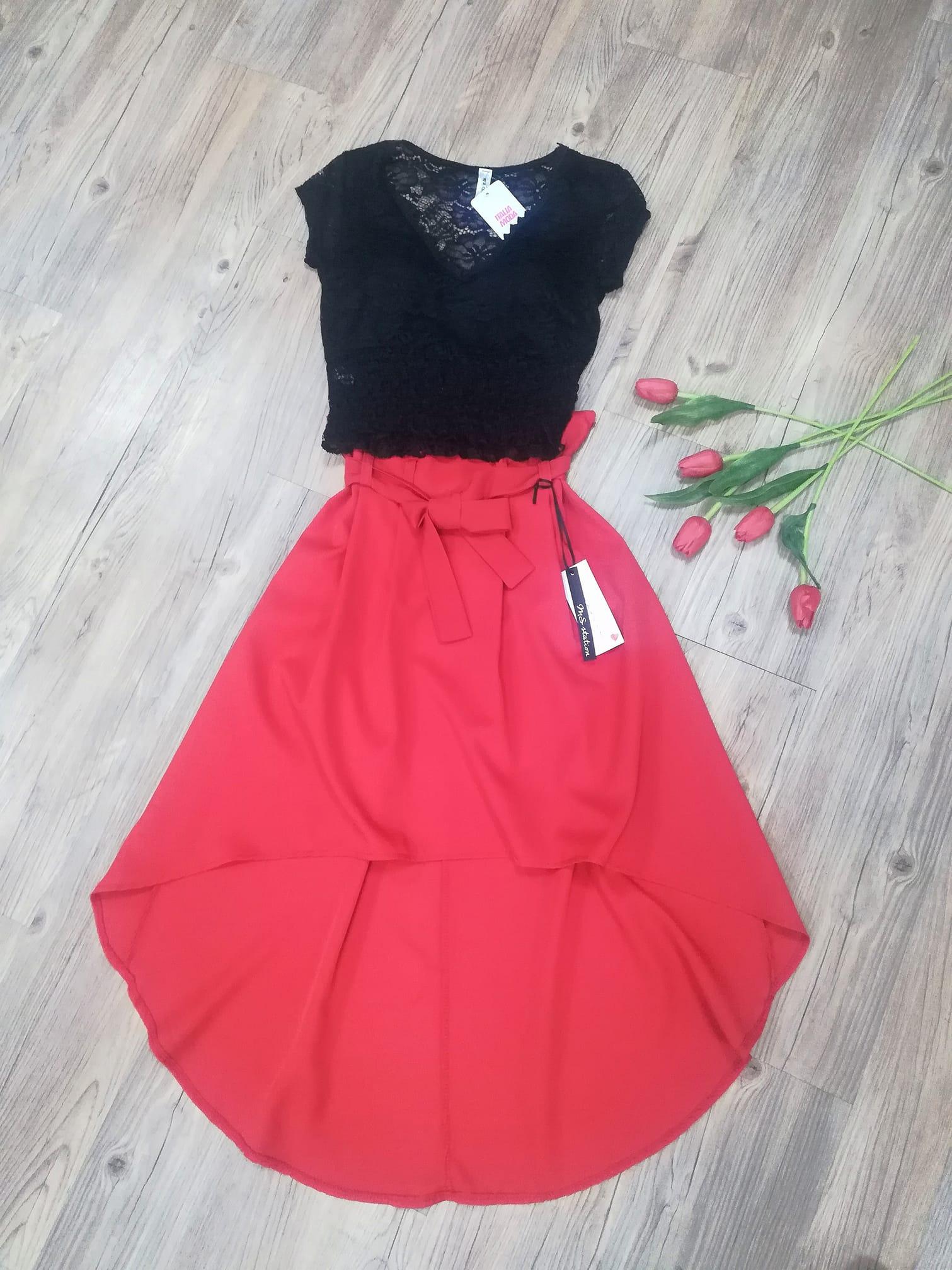 Asymetrická sukně - 2 barvy