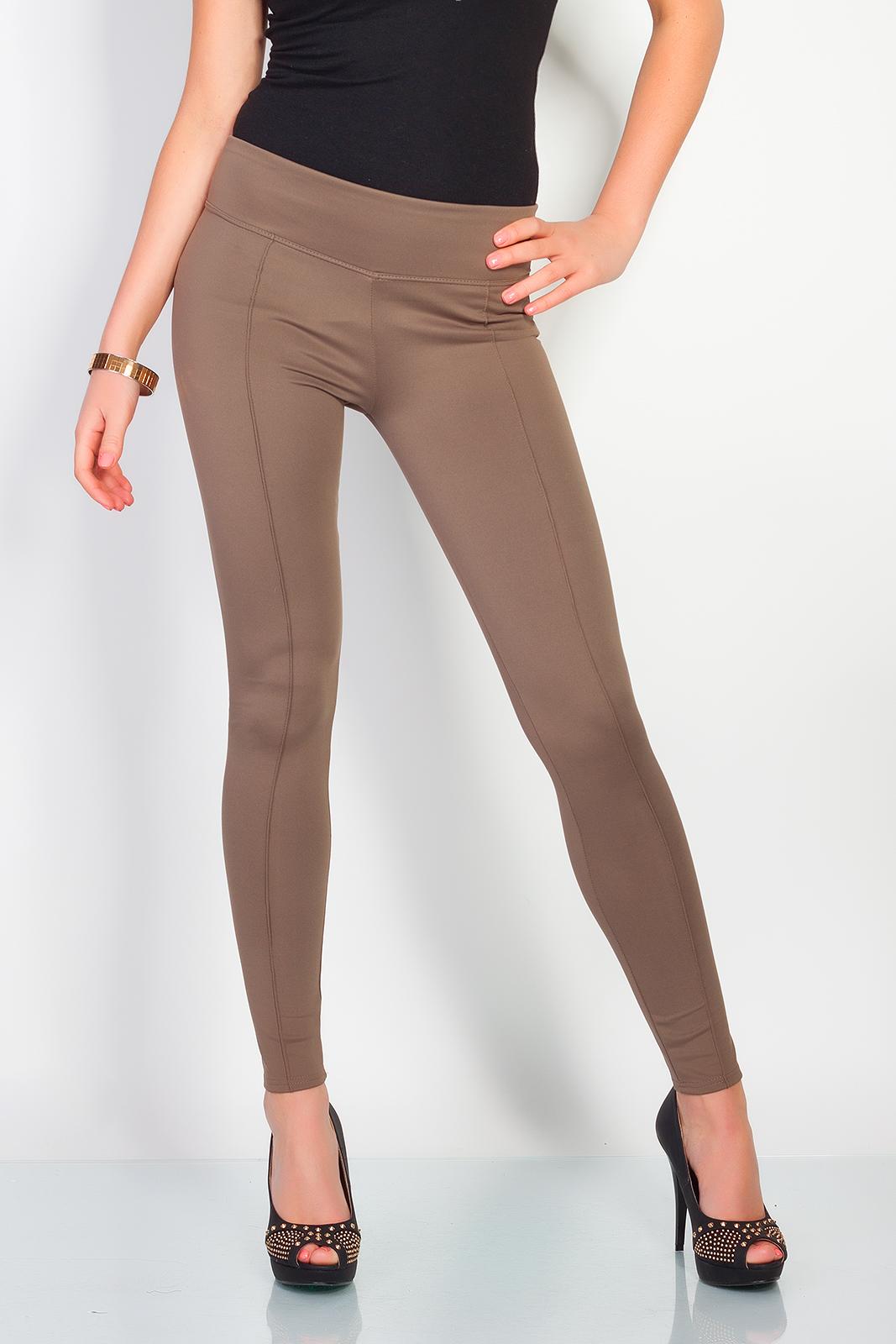 Úzké kalhoty, styl džegíny, cappucino, jednotná