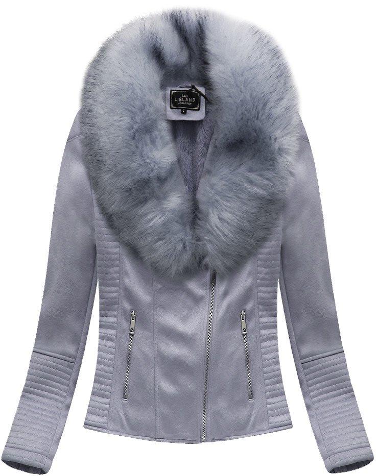 Semišová bunda s kožešinou