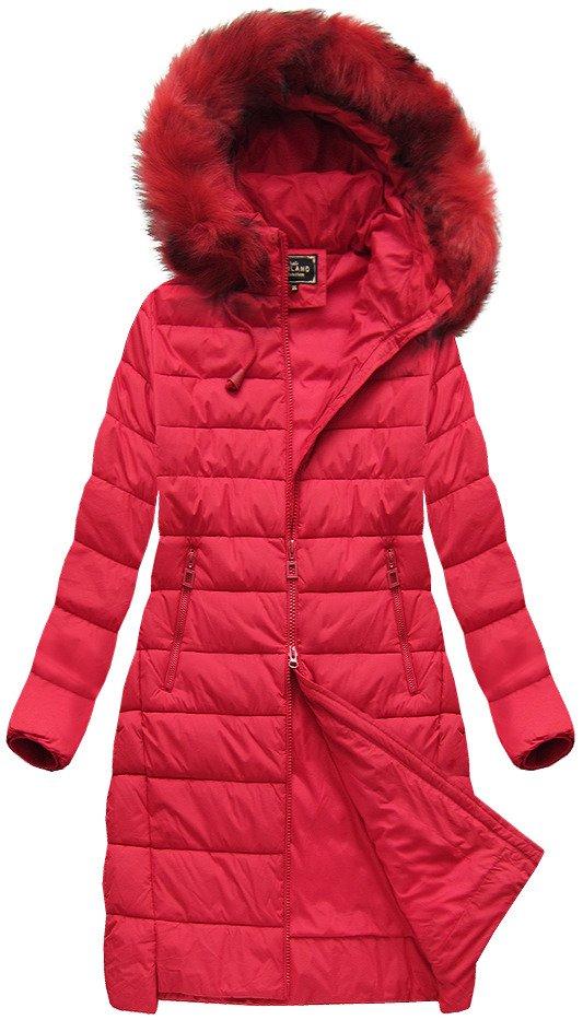 Delší zimní bunda s kapucí