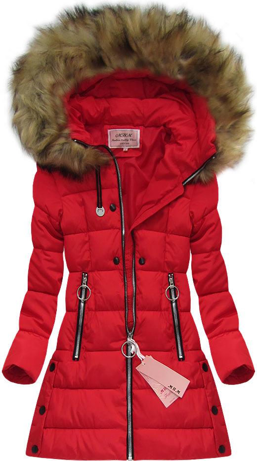 Prošívaná zimní bunda s  kožešinou