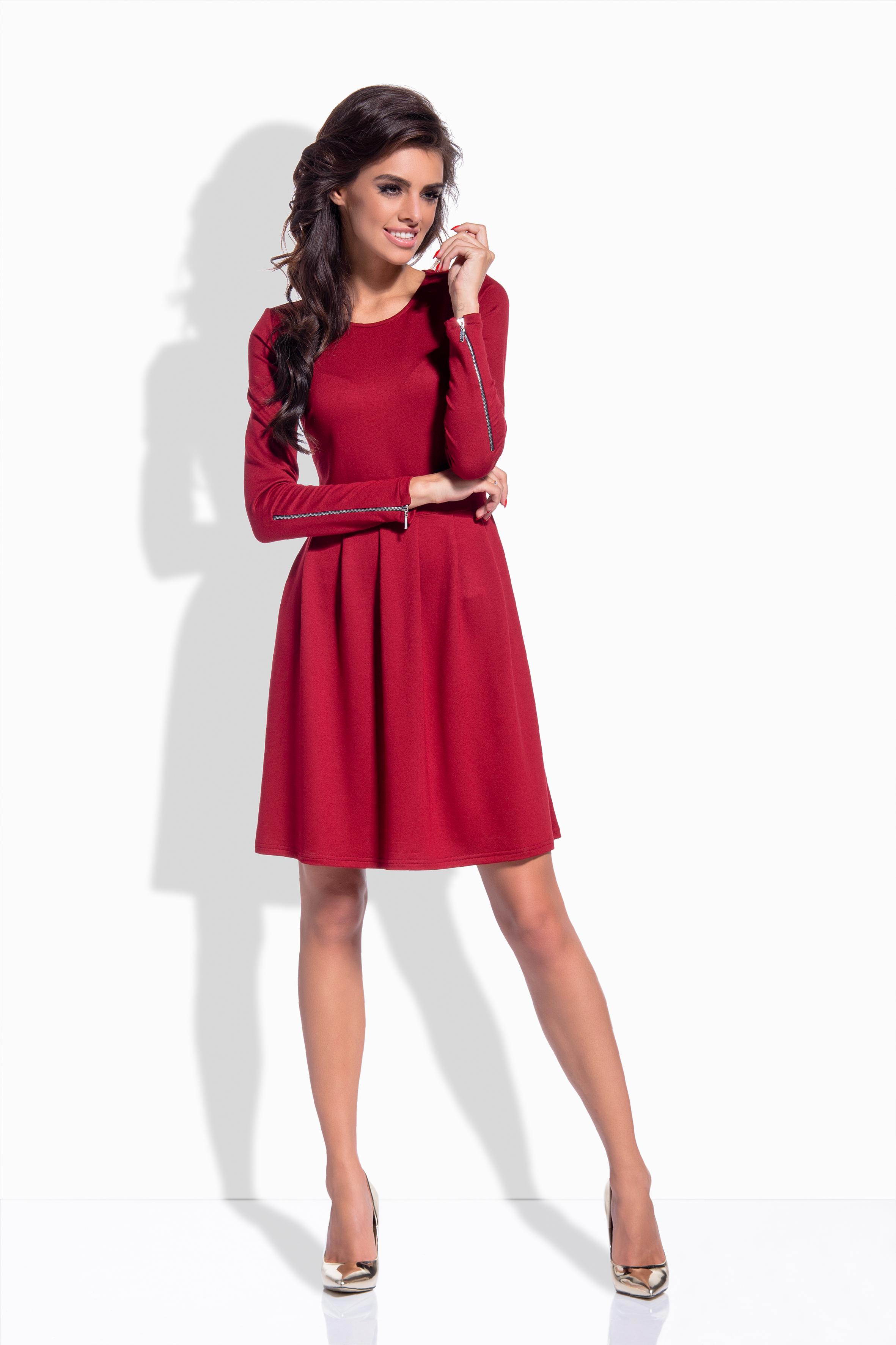 Bavlněné šaty, ozdobné zipy na rukávu