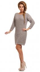 Svetrové šaty, šedá, jednotná