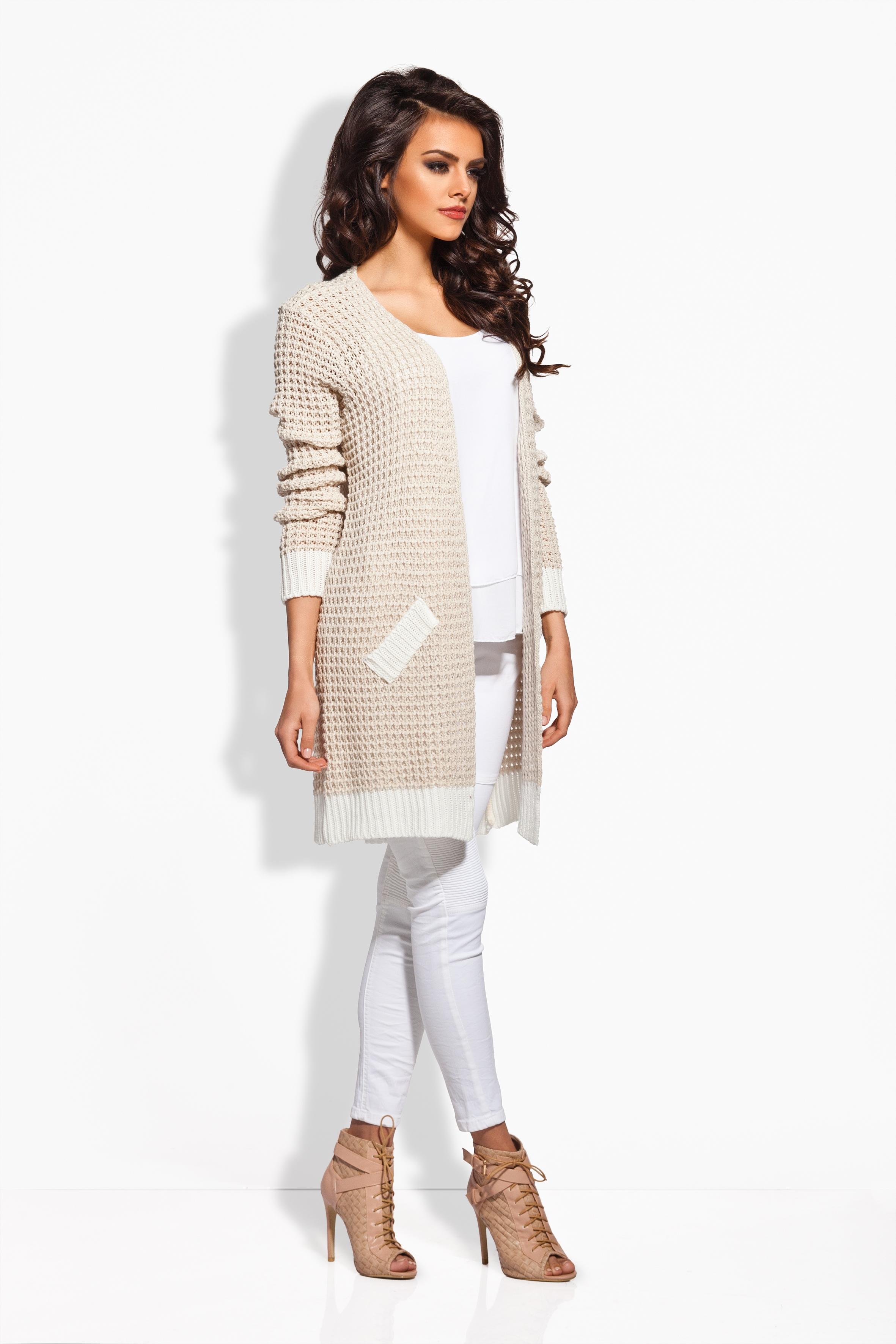 Pletený svetr s lemováním