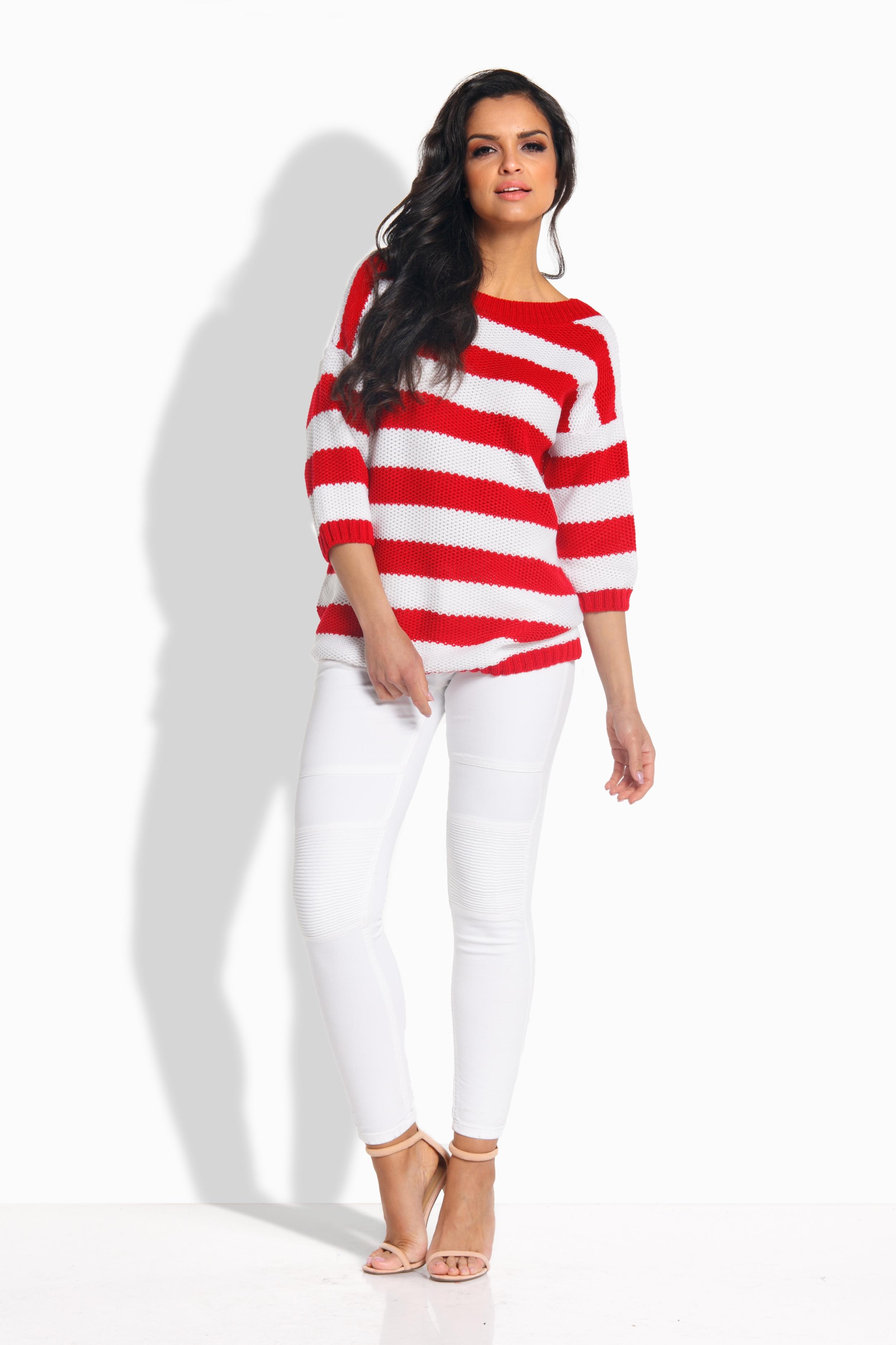 Elegantní svetr, červená, jednotná