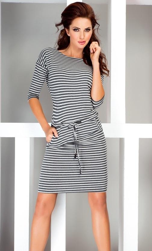 Sportovní šaty - proužkaté, jednotná, XL