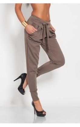 Elegantní kalhoty s ozdobnou mašlí
