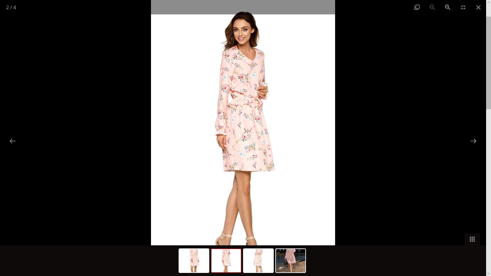 Dámské šaty L275, růžová, S