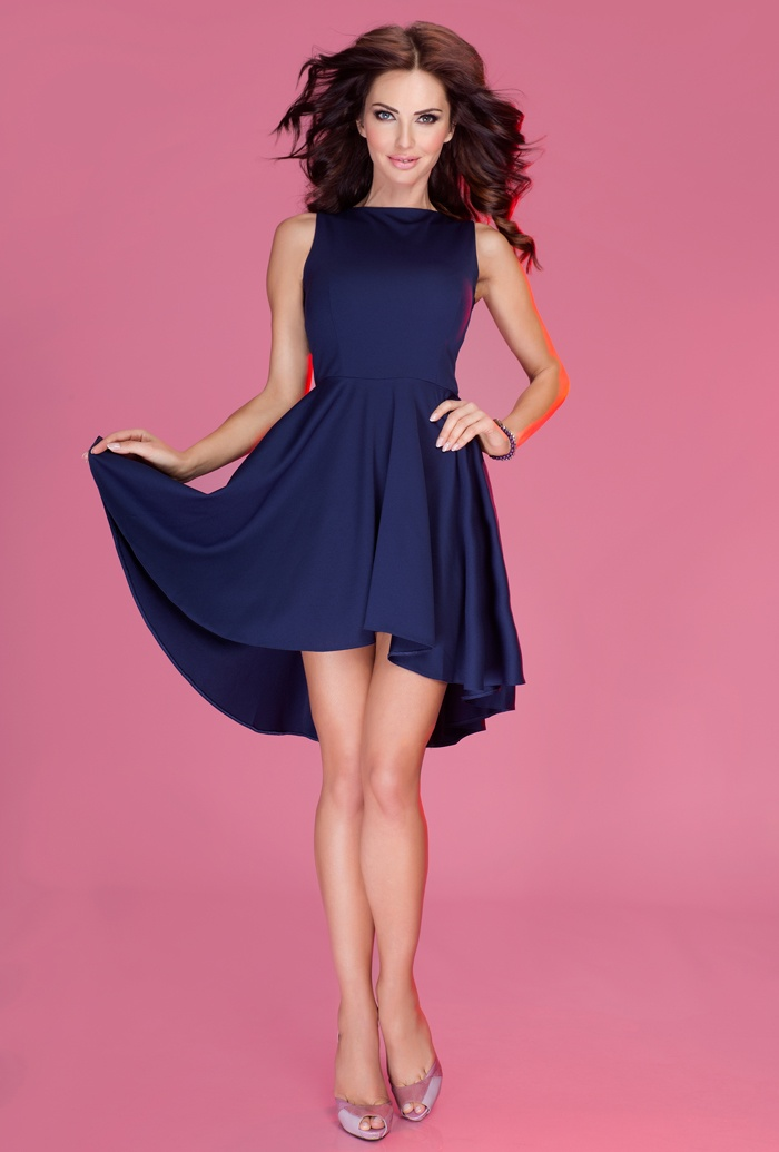 Elegantní minišaty - 4 barvy, navy, L