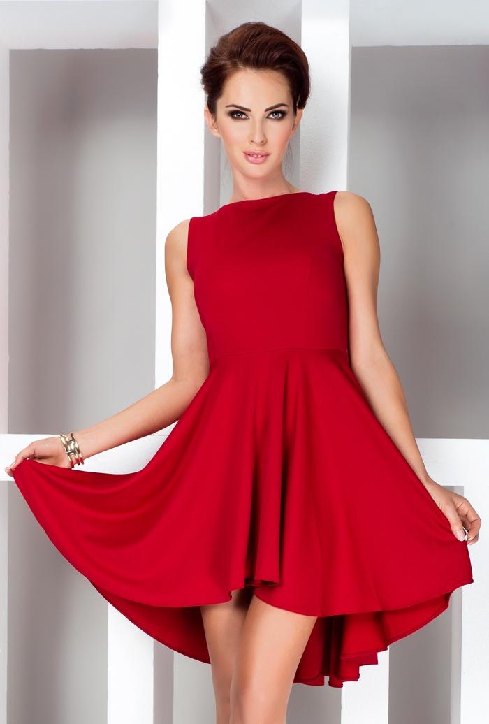 Elegantní minišaty - 4 barvy, červená, S