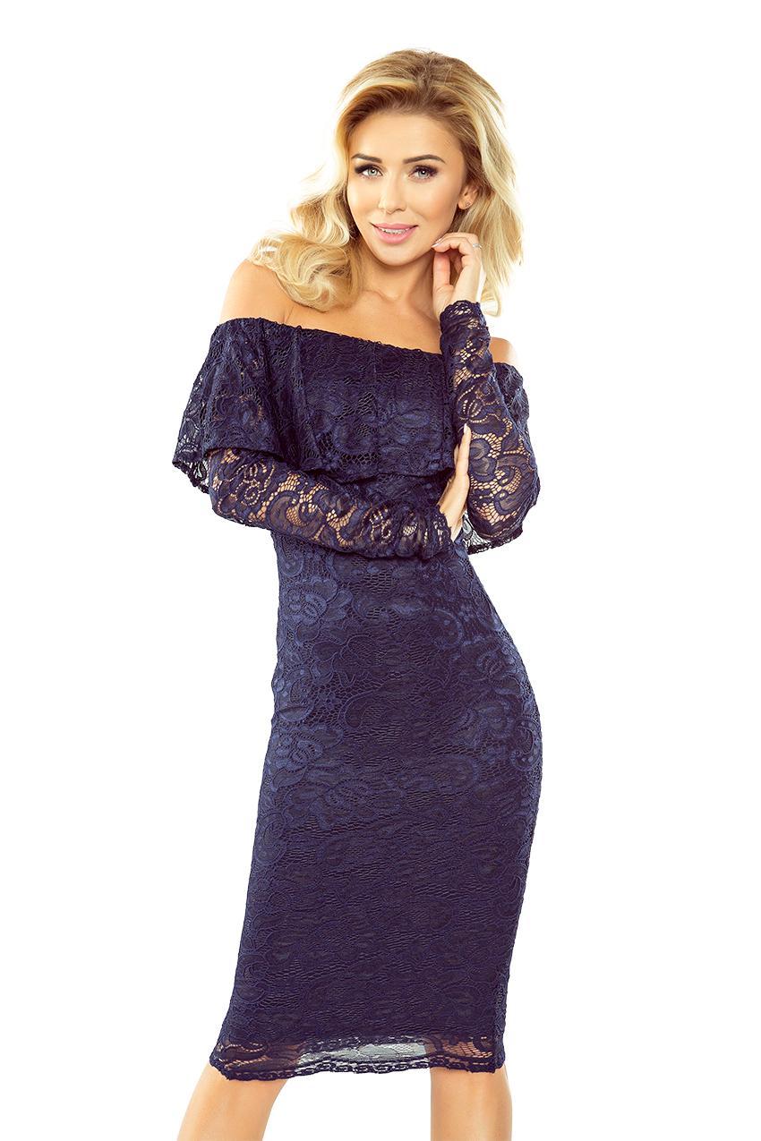 Krajkové šaty s volánem