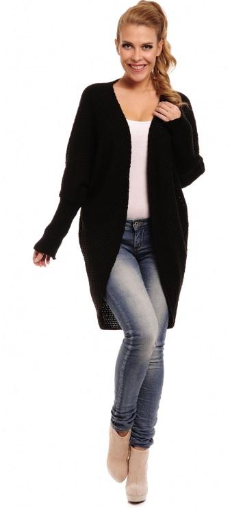 Trendy svetrový kabátek