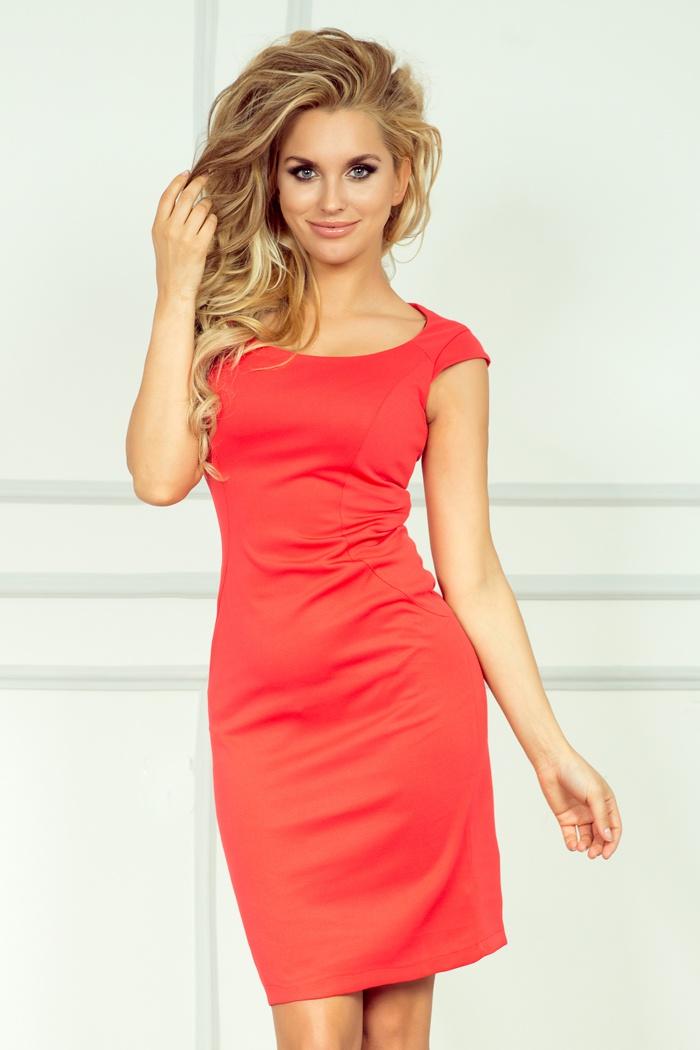 Elegantní šaty, korálová, L