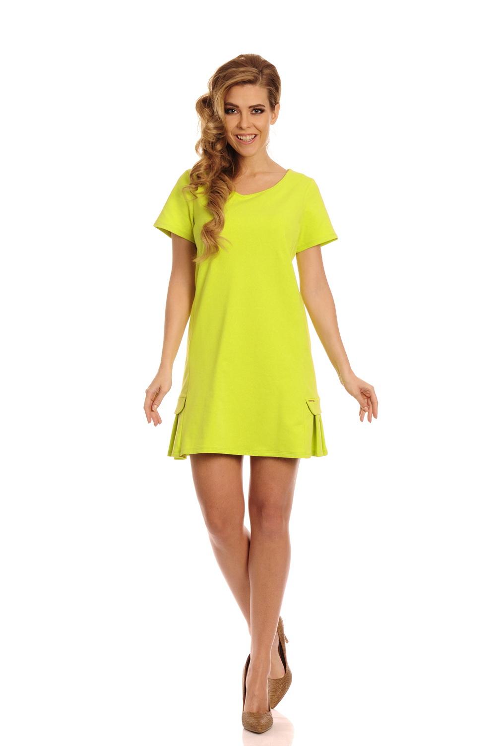 Bavlněné šaty se skladem, limeta, M