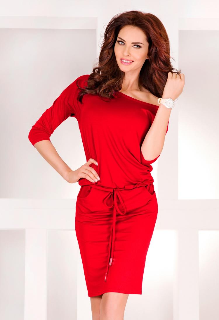 Sportovní šaty, červená, L
