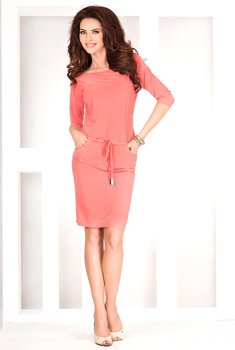 Sportovní šaty, korálová, XL