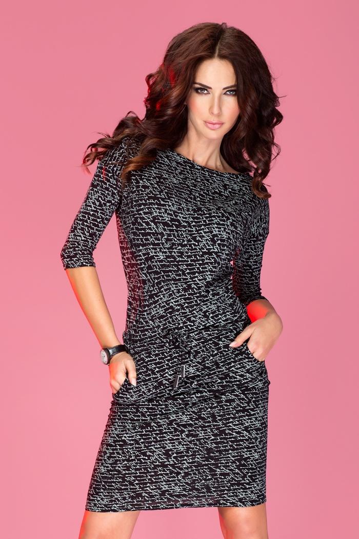 Sportovní šaty s potiskem, černá, XL