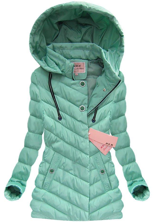 Prošívaná jarní a podzimní bunda s kapucí W626