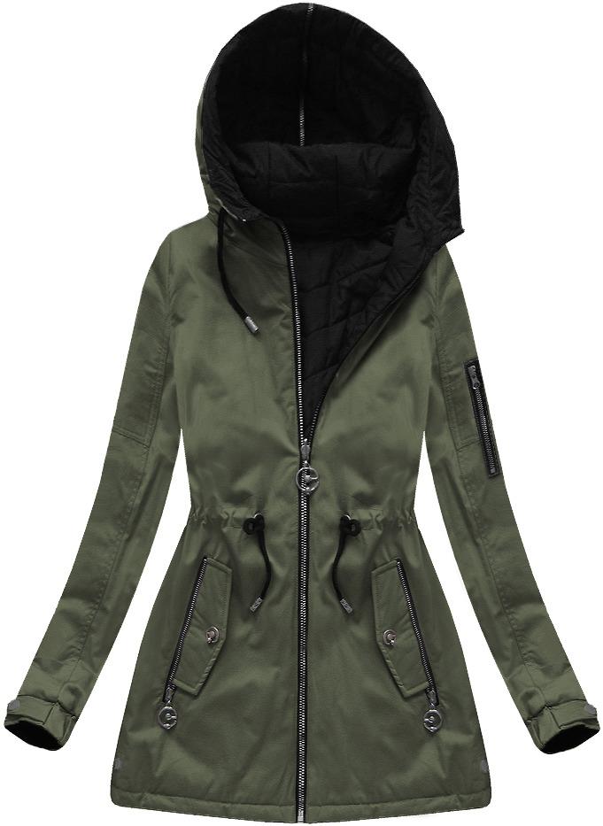 Oboustranná jarní-podzimní bunda s kapucí